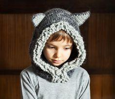 Crocheting: Crochet Fox - Wolf Hat Hoodie, crochet pattern, animal hat, monpetitviolon