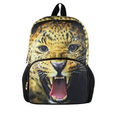 "whosepet-cute kids children's backpack spiderman 3d animal tiger head school backpack 12"" bag cartoon zoo mochila infantil $24.43"