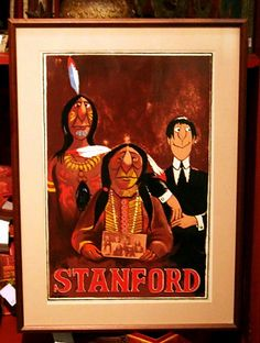 Vintage Stanford Indian Poster by InnerGarden on Etsy