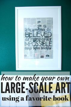 Make a gorgeous, impactful DIY art piece with a favorite old book and some vinyl!