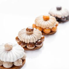 Vanilla, Coffee, Caramel and Chocolate Gateaux St. Honoré by Cédric Grolet, Chef Pâtissier of Le Meurice.