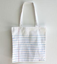 Notebook Paper Print Tote