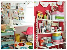 Pretty Retro Craft Room Style