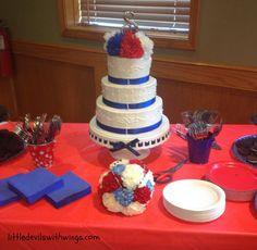 decoration wedding 2014 red and blue - Buscar con Google