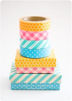 Washi taped boxes - by Craft & Creativity