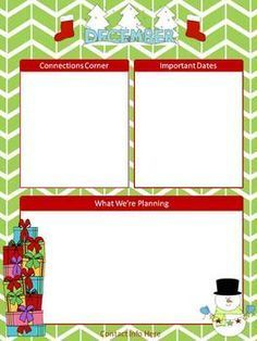 Free December Newsletter Template   Pinteres
