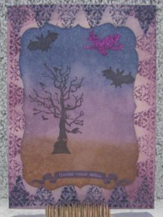 I just listed Under Your Spell Halloween greeting card witches bats purple on…