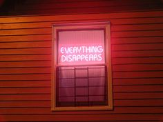everything disappears