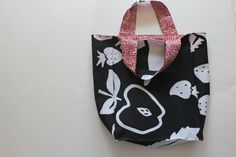 Black and Red Reversible Lunch Bag with by ChasingRainbowsEtsy, $17.00