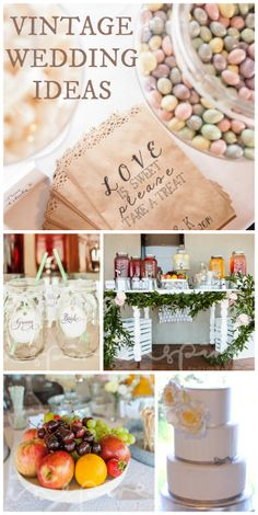 What a beautiful wedding party with a sophisticated, vintage look!  See more party ideas at CatchMyParty.com!