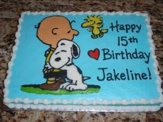 Snoopy Birthday Cake | Flickr - Photo Sharing!
