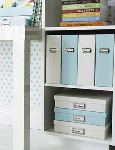 Keep papers organized and out of site with Martha's Stack + Fit collection at Staples. Magazine files and file boxes are designed to coordinate with each other and provide stackable storage options.