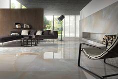 Ultra Onice Grigio sols effet marbre en grès cérame | Ariostea