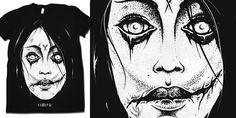 """""""Kuchisake Onna"""" t-shirt design by drop"""