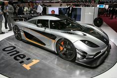 Koenigsegg One 1 with 1,341 horsepower.
