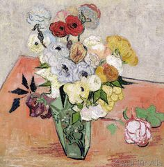 Vincent+van+Gogh+-+Roses+and+Anemones,+1890