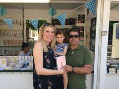 Con Sofía y Vega en la firma de #EsbozoStateBuilding 06.06.2015