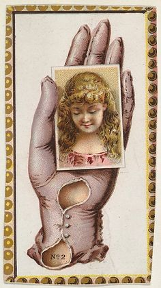 Card Number 2, cut-out from banner advertising the Opera Gloves series (G29) for Allen & Ginter Cigarettes