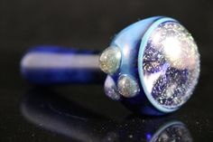 Sparkly stardust glass pocket pipe with dichro by FullMoonGlass