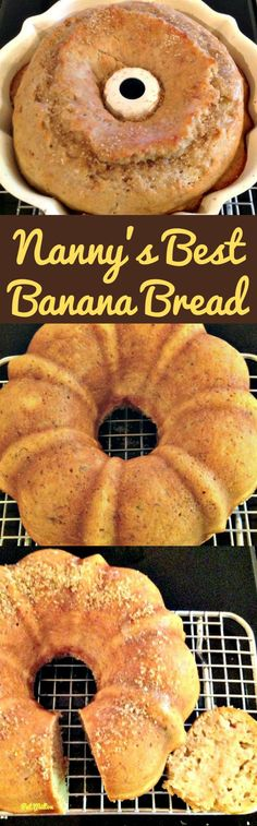 Nanny's BEST Banana Bread is a lovely soft, moist cake and absolutely delicious with the glazed poured over! A nice, easy recipe and freezer friendly too!