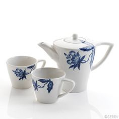 Modern Blue Flower Tea Set - @serrv