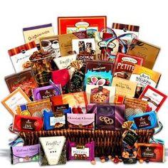 Chocolate Gift Basket Jumbo - Sweet Decadence$229.99: www.amazon.com/Chocolate-Gift-Basket-Jumbo-Decadence/dp/B001F8FP06/?tag=sure9600pneun-20