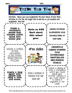 the think tac toe method for students in the classrooms How can an educator differentiate instruction using the tic-tac-toe method using the tic-tac-toe strategy to differentiate instruction classroom.