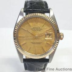 Genuine Vintage Scarce Textured Dial 16013 Rolex Gold Steel Mens Datejust Watch…