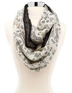 skull crochet infinity scarf