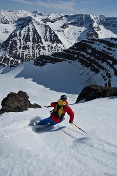 Not a bad view. #Iceland #Skiing ... Something I would want to do...