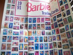 2 Barbie Trading Card Collector Posters 1990 First Edition New 1991 Edition Used   eBay