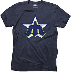 Seattle #Mariners Triblend Cooperstown Logo T-Shirt  $32.99
