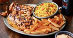 Nando's recipes - the easy way to prepare the best dishes from the Nando's menu. These are copycat recipes, not necessarily made the same way as they are prepared a. Nando's Recipes, Best Chicken Recipes, Popular Recipes, Copycat Recipes, Cooking Recipes, Popular Food, Birthday Dinner Recipes, Birthday Dinners, Birthday Ideas