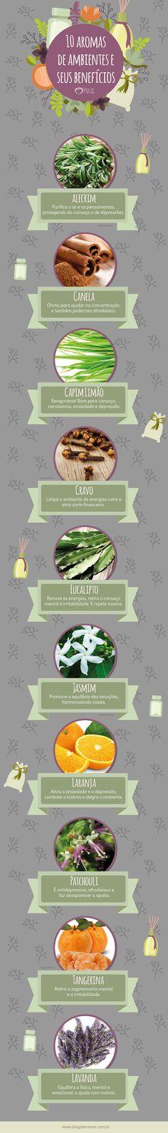 Cheirinho bom: 10 Aromas de ambiente e seus benefícios - Blog da Mimis #blogdamimis #saúde #comportamento #aromas #casa #infográfico