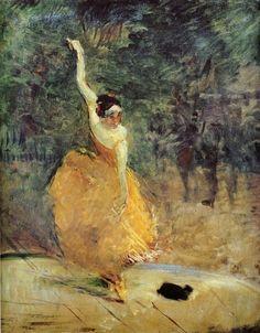 The Spanish Dancer - Henri de Toulouse-Lautrec 1888