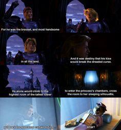 I just realised that Wolf is reading 'Pork Illustrated' -- Shrek 2 (Rupert Everett as Prince Charming)