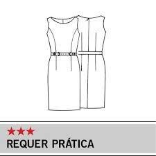 molde para imprimir de vestido tubinho - Pesquisa Google