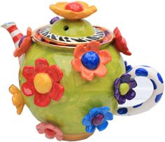 Daisy Studded Teapot - Mary Rose Young Pottery