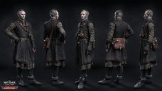 Now this is a treat. The Witcher 3 has easily been my favourite game of 2015 [Update: and now 2016 as well], so it's a pleasure to showcase a big collection of artwork that went into the game's development and promotion. 3d Character, Character Concept, Concept Art, Character Design, Character Portraits, Witcher Armor, The Witcher Geralt, Fantasy Illustration, Character Illustration