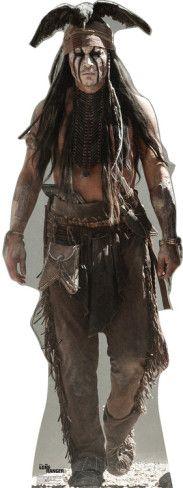 The Lone Ranger Disney Movie - Tonto (Johnny Depp) Lifesize Standup Cardboard Cutouts