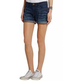 Le Cutoff Stretch-Denim Shorts via @WhoWhatWear