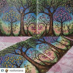 @roofontana arrasou nas cores, desenho do livro Floresta Encantada. Use #desenhoscolorir para ver seus desenhos aqui. #florestaencantadatop #florestaencantada #jardimsecretoinspire #jardimsecreto #enchantedforest #secretgarden #johannabasford
