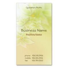 Lovely muted floral business cards in pale green and cream with hint of melon. Text is ready for you to customize on front and back to make it truly yours. #floral #flower #business #cards #melon #green #mint #cream #peach #pastel #professional #customize #template #personalize #uniqueprints #designer #interior #garden #gardener #wedding #consultant #bridal #landscaperlandscaping #florist #business #multi-region