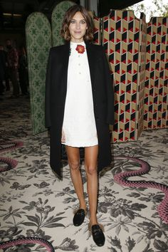 Alexa Chung at Gucci Spring 2016 Ready-to-Wear