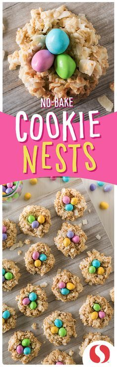 No-Bake Cookie Nests are major cookie goals! This kid-friendly recipe is a must-try!