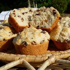 "Beer Muffins  ""This recipe is just the thing to toss together at the end of a hectic day when you don't have the time to make a yeast-raised biscuit! You can soak the raisins in hot water if you have the time or substitute other fruits if you're out of raisins."" — MARBALET"