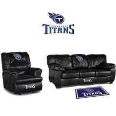 Use this Exclusive coupon code: PINFIVE to receive an additional 5% off the Tennessee Titans Leather Furniture Set at SportsFansPlus.com