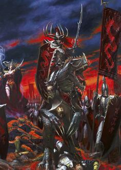 Total War: Warhammer 2 - Dark Elf Lords, unit, and mechanics speculation Dark Fantasy Art, Fantasy Battle, Fantasy Armor, High Fantasy, Medieval Fantasy, Warhammer Dark Elves, Warhammer Art, Warhammer Armies, Warhammer Fantasy Roleplay