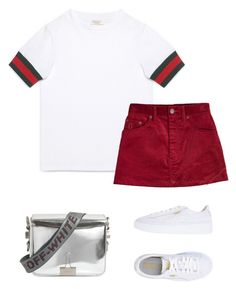 """""""Untitled #85"""" by lazerature on Polyvore featuring Gucci, Marc Jacobs, Puma and Off-White"""