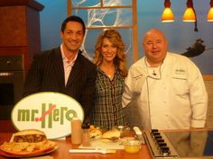 Hey, it's Nicole! and Chef Jim on WKYC Channel 3's Good Company Today with Michael Cardemone. Looks like a Mr. Hero's Tuscan Steak!